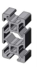 profil d 39 assemblage modulaire 20x40 aluminium 6060 aludis vente d 39 alliages d 39 aluminium. Black Bedroom Furniture Sets. Home Design Ideas