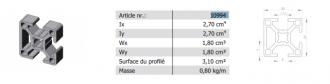 Profilé30X30 3N ALUDIS